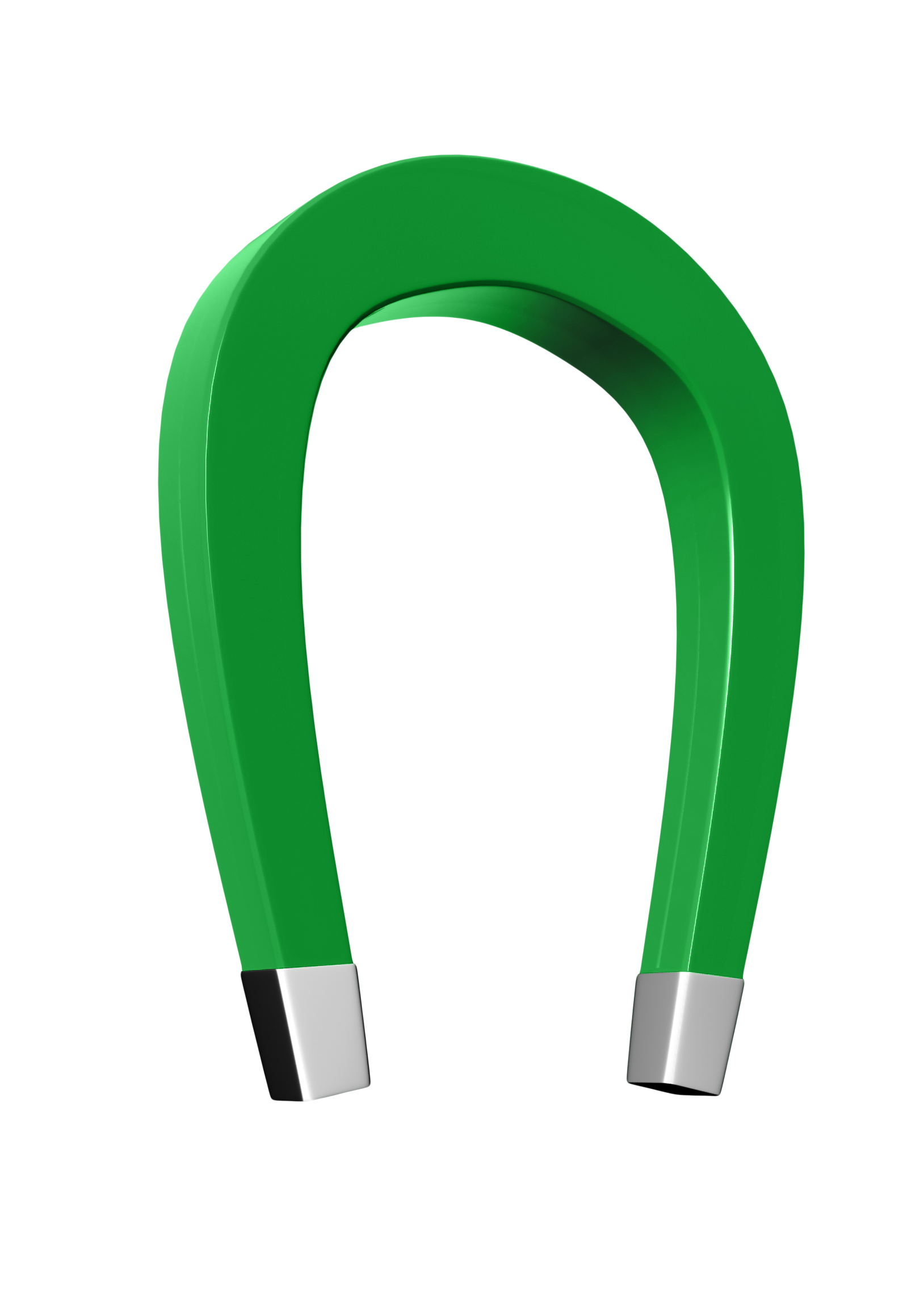 Horseshoe clipart green #6