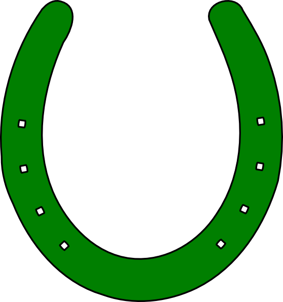 Horseshoe clipart outline Vector Clip Art Clker at