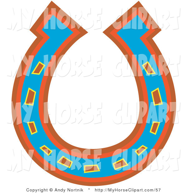 Horseshoe clipart red A Blue Orange Red Clip