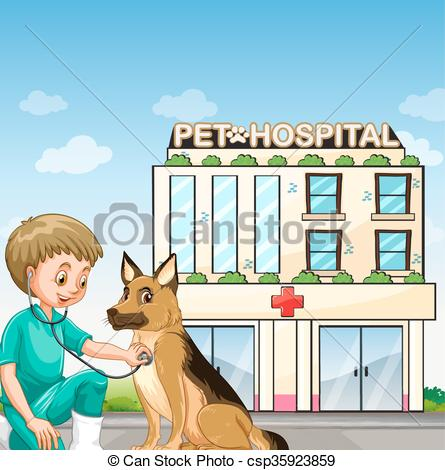 Pet clipart animal hospital Of hospital illustration at the