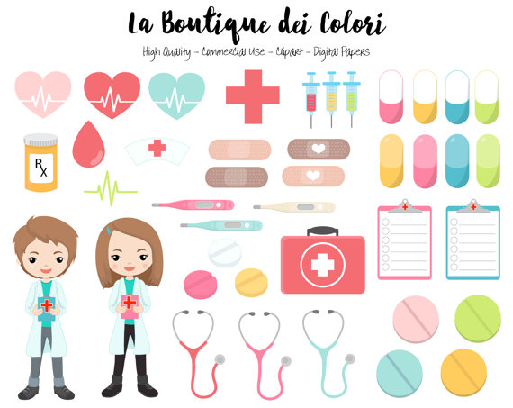 Pills clipart background Digital PNG Graphics medicine Doctor
