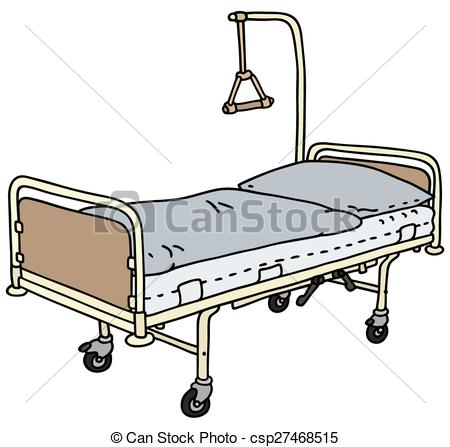Bedroom clipart line drawing Of Clip csp27468515 of bed