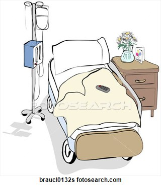Bed clipart drawn Patient Hospital Clip Clip Fotosearch