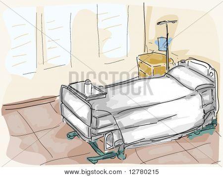 Room clipart hospital room #1