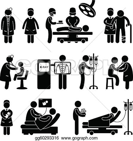 Shaow clipart nurse Drawing of Art patient hospital