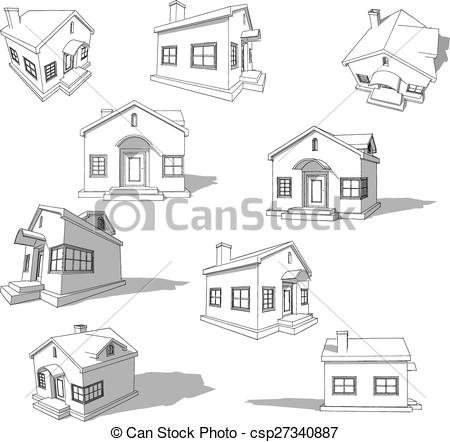 Hosue clipart abstract Sketch simple of abstract