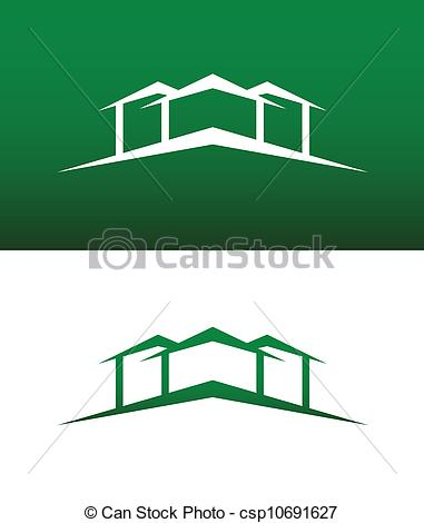 Hosue clipart abstract Csp10691627 Icon Reversed Vector Solid
