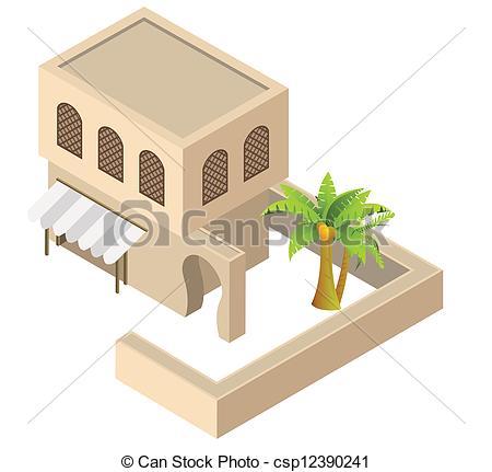 Arabian clipart village Vector  house Art Clip