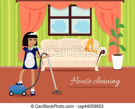House clipart banner Cleaning banner Vector csp44059603 Cleaning