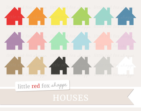 House clipart banner Label Clipart House Cottage Cabin