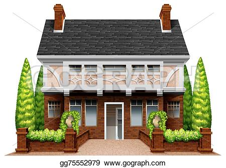 Hosue clipart beautiful house House background Clipart Stock white