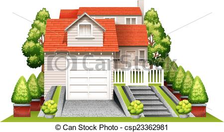 Scenery clipart beautiful house #4