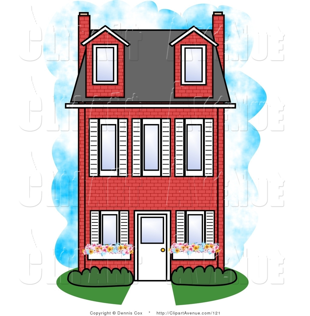 House clipart big and small Apartment Clipart Art Apartment House