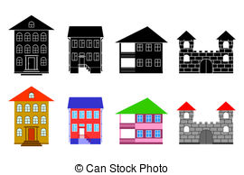House clipart big and small Small The Clip Vector of