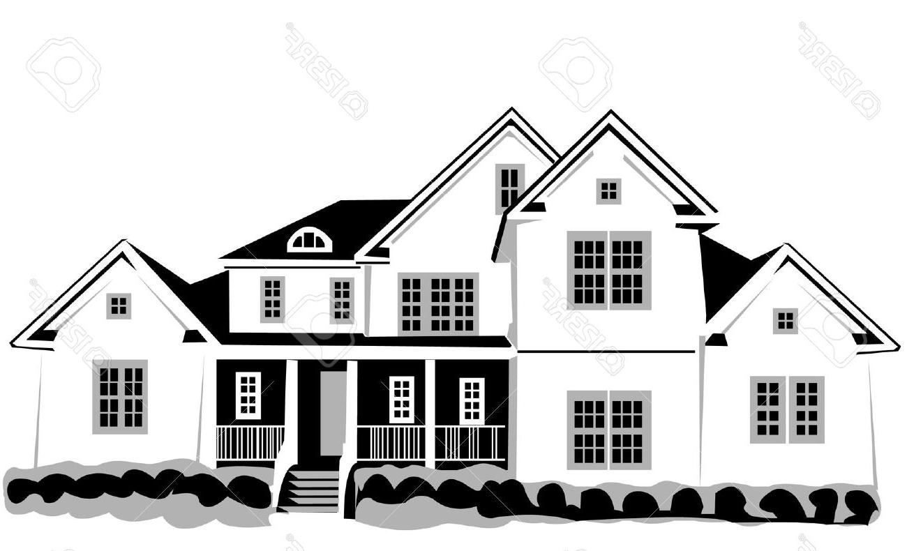 Hosue clipart big house House  Black Unique Clipart