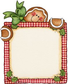 Hosue clipart border Gingerbread man border Clipart Cliparts