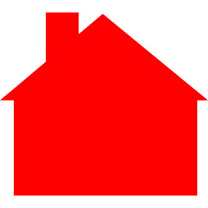 Hosue clipart colored House art 3 clip Red