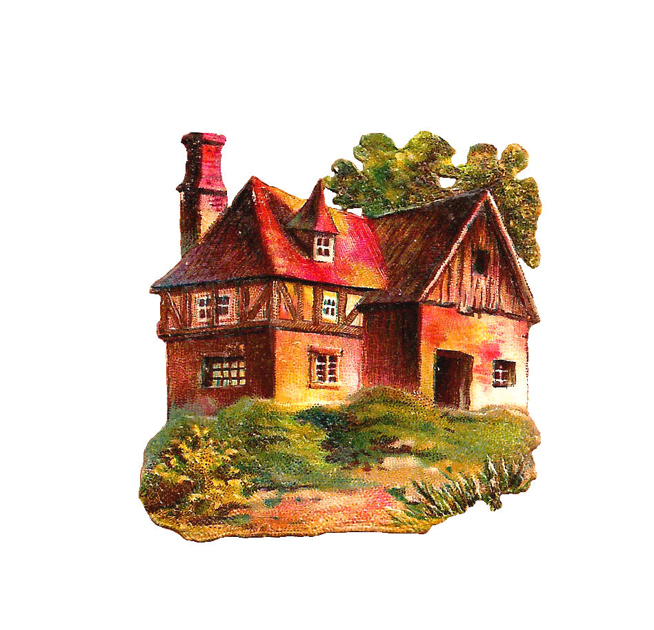 Cottage clipart hous Cottage Free Victorian House Antique