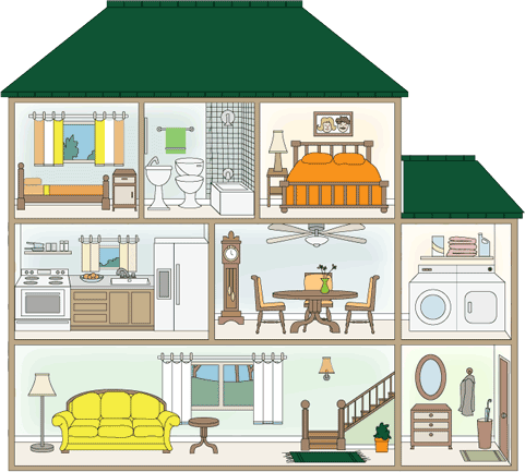 Hosue clipart cross section Pinterest What We houses Do