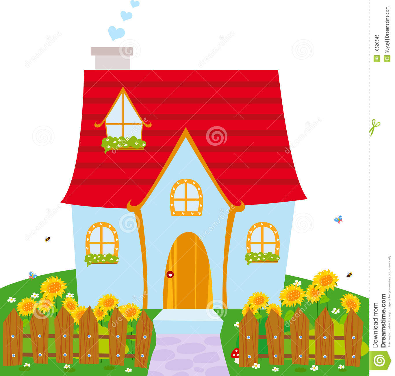 Hosue clipart cute House — Clipartwork House Cute