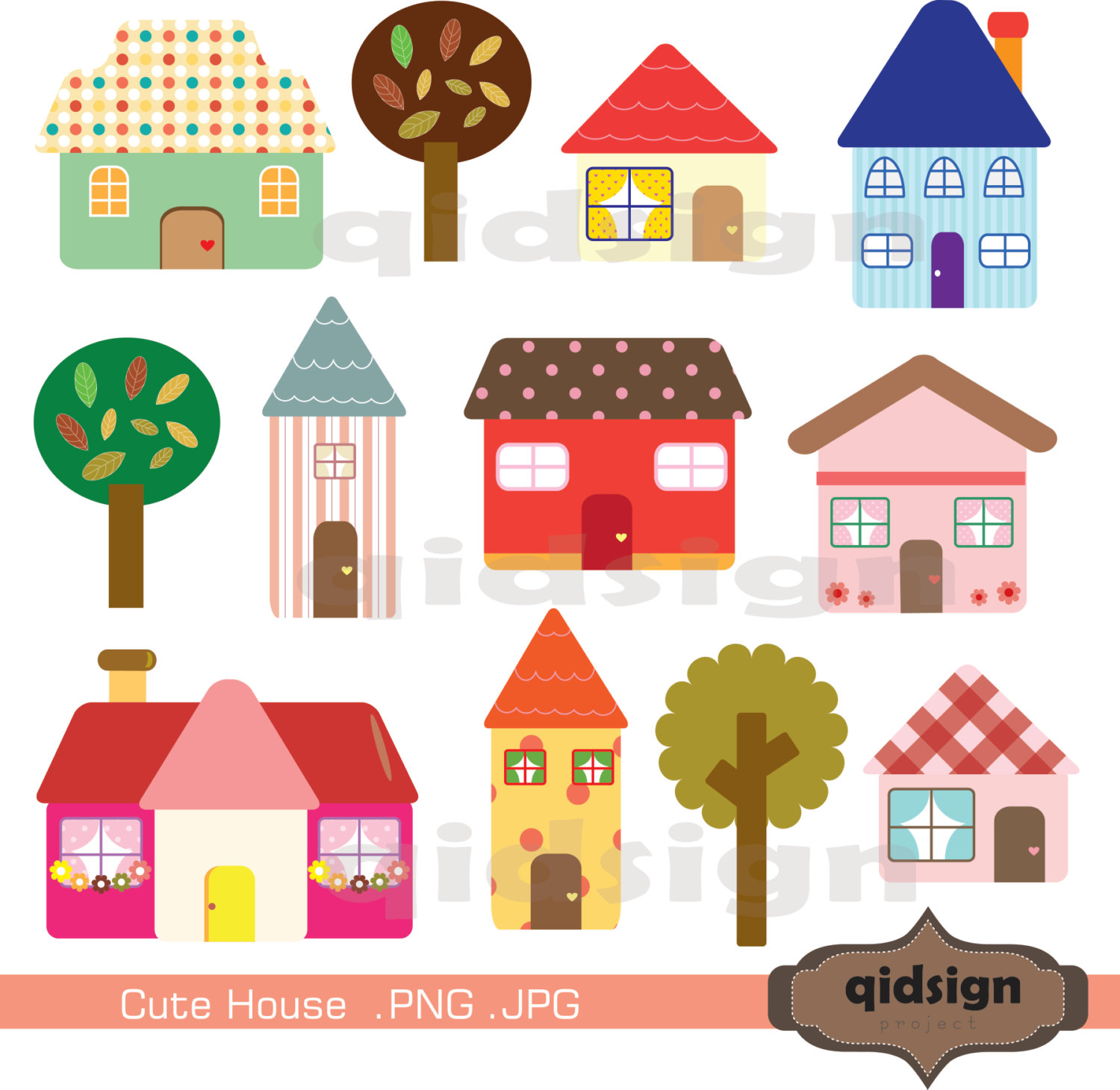 Hosue clipart cute Cute Commercial House Clipart Personal