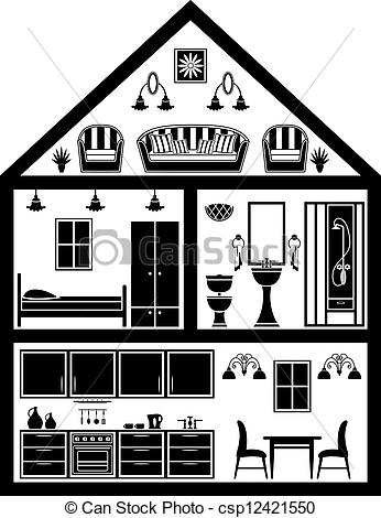 Structure clipart black and white And of planning black csp12421550