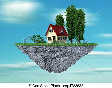 Hosue clipart dream house Clip concept illustration is concept