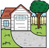 Hosue clipart driveway Free GoGraph House Royalty Cartoon