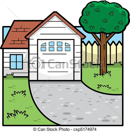 Hosue clipart driveway #5