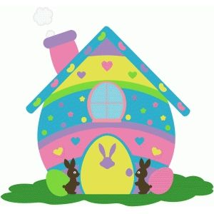 Hosue clipart easter bunny Search : 109 best ·