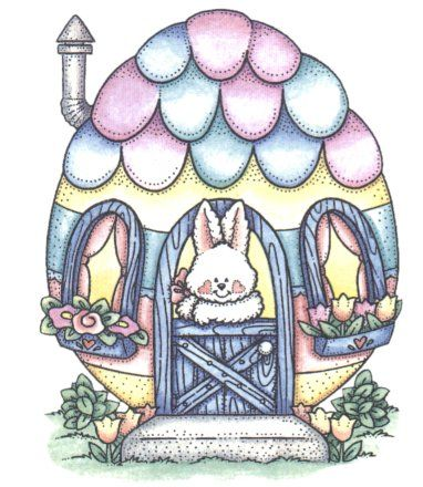 Hosue clipart easter bunny And on ღ 378 Bunnies