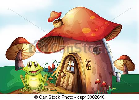 Hosue clipart frog Vector house frog A beside