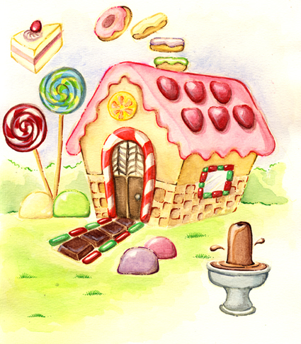 Hosue clipart hansel and gretel Gretel zombieoctopus media and –