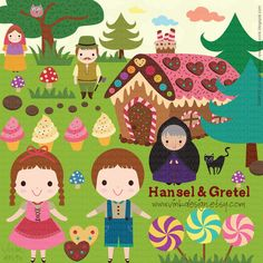 Hosue clipart hansel and gretel And Set Hansel Gretel TimeScrapbook