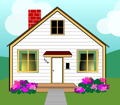 Cottage clipart home and family More and about this Houses