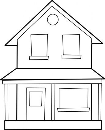 Hosue clipart line drawing (49+) line Houses drawing of