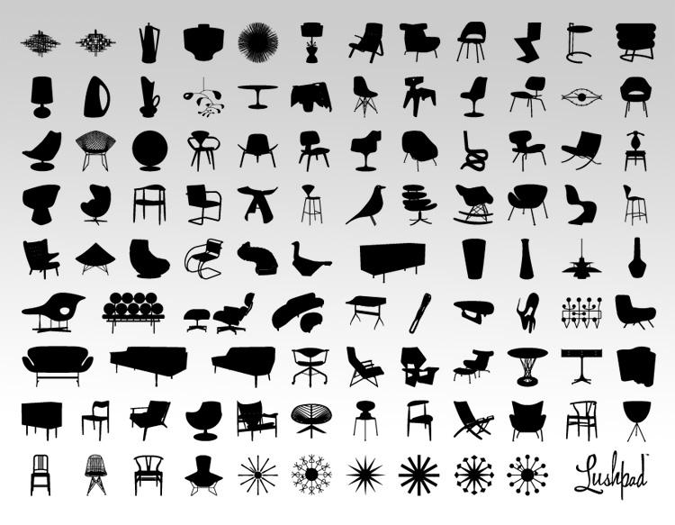 Hosue clipart mid century modern Century  Lushpad Collection ::