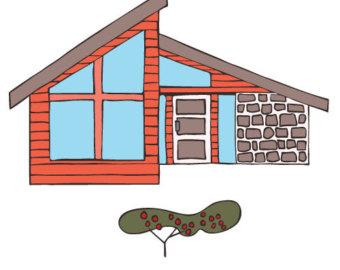 Hosue clipart mid century modern (62+) homes Modern century Clip