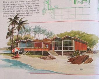 Hosue clipart mid century modern Frames house Vacation CENTURY MODERN