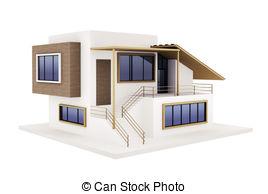 Hosue clipart modern Construction new of 3d modern