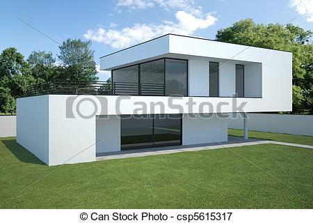 Hosue clipart modern Of house modern lawn exterior