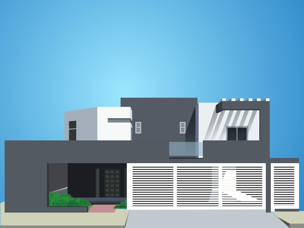 Hosue clipart modern Zone Modern House House Cliparts