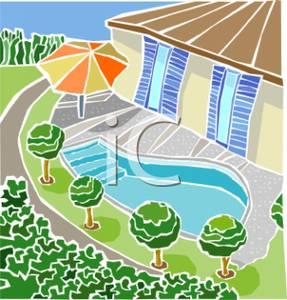 Hosue clipart pool Backyard Clipart In In Backyard