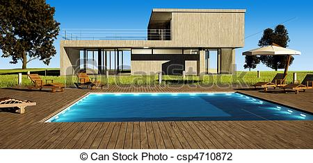Hosue clipart pool With Clip of pool house