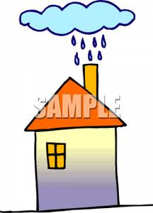 Hosue clipart raining Over Clipart Royalty Picture Clipart