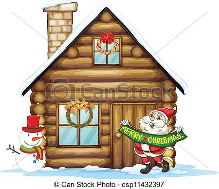 Hosue clipart santa Clipart Santa Santa House House