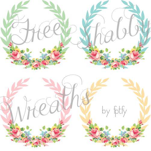 Wreath clipart shabby chic FPTFY Chic ideas Shabby Digital