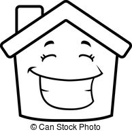 Hosue clipart smiling Cartoon of Vector House Smiling