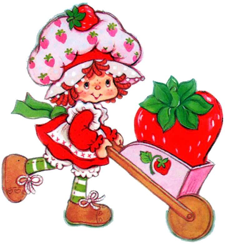 Original clipart strawberry shortcake Strawberry clip  shortcake art