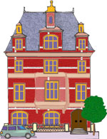 Hosue clipart three story House story Three Home Graphics